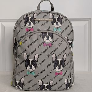 Betsey Johnson Boston Terrier Frenchie Backpack 🆕